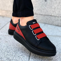 Arcus Black & Red Sneakers