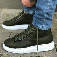 Chekich CH258 Green Leather Sneakers