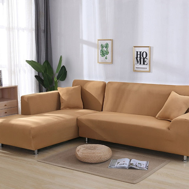 Solid color sofa covers