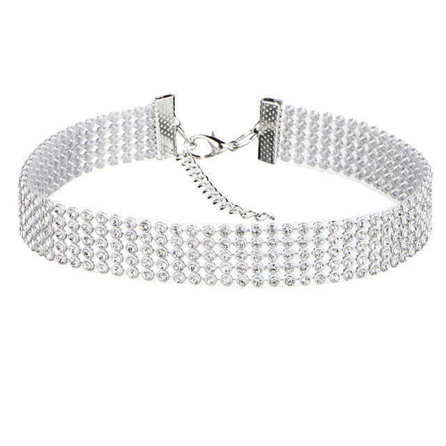 NEW Crystal Rhinestone Choker Necklace for Women
