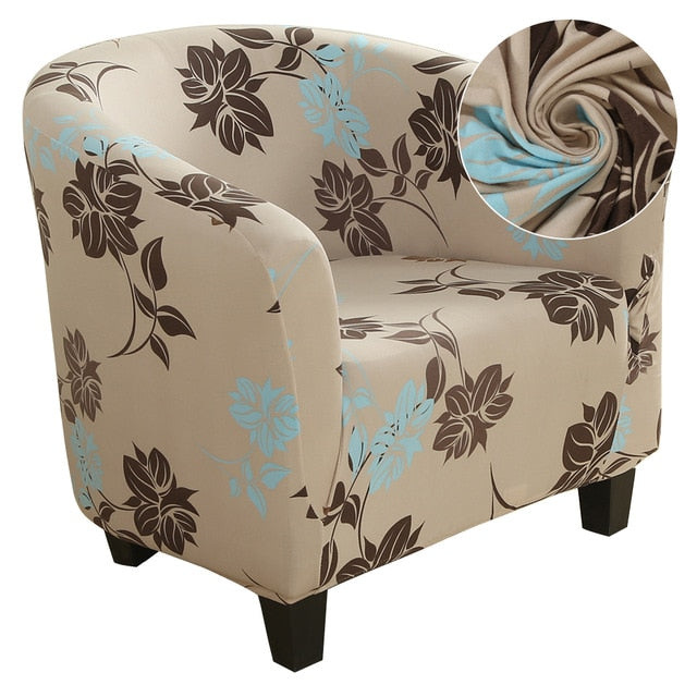 Elastic Coffee Tub Chair Cover