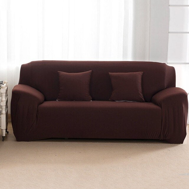 Brown Black Red Grey Elastic Sofa Cover For 1/2/3/4 Seater