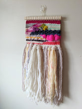 "Load image into Gallery viewer, ""Zara"" Fluffy Patchwork Woven Wall Hanging - Weaving"