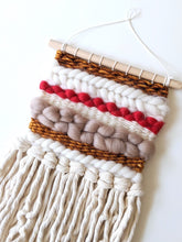 Load image into Gallery viewer, Cream + Gold Mini Weaving - Woven Wall Hanging