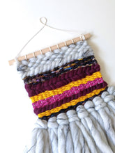 Load image into Gallery viewer, Fluffy Gray Mini Weaving - Woven Wall Hanging