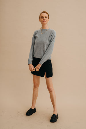 Kaszmirowy sweter / 16 / 01 / cloud grey