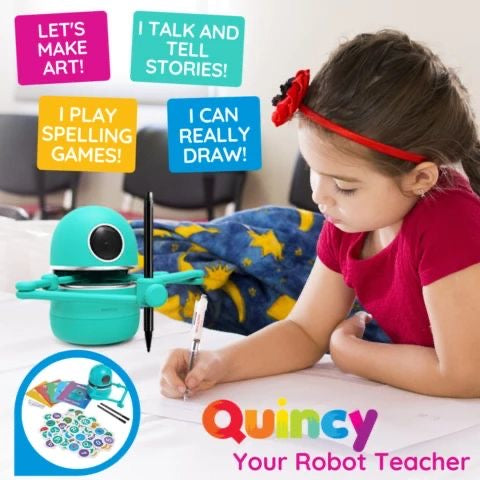 MiniRoboArt Robot that Teaches Drawing , Math , Spelling, And can talk with your kids