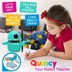Load image into Gallery viewer, MiniRoboArt Robot that Teaches Drawing , Math , Spelling, And can talk with your kids