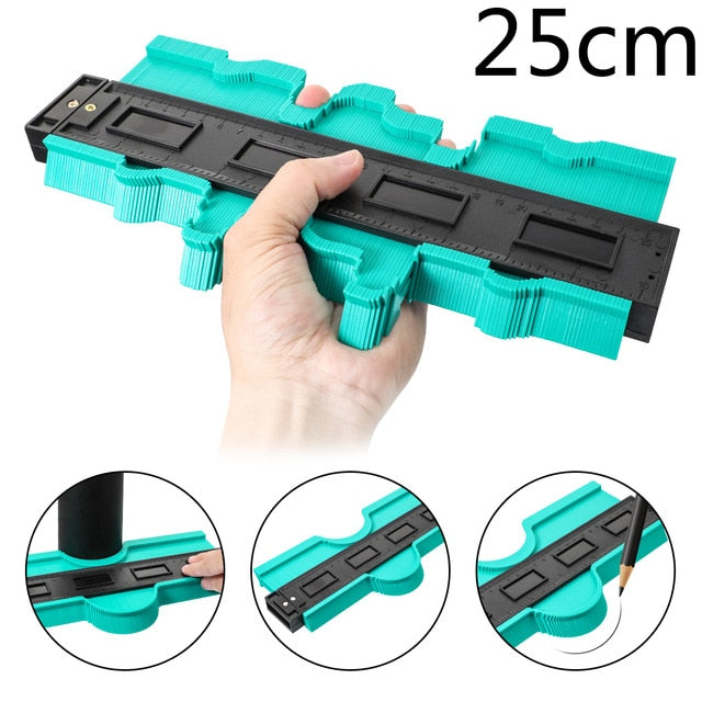 Template Plastic Contour Copy Duplicator Measuring Tool