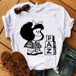 Load image into Gallery viewer, Mafalda Cute Casual T-shirt
