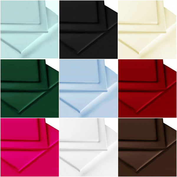 180 Thread Count Smooth Percale - Fitted Sheets Colours
