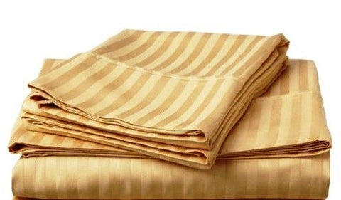 250 Thread Count Egyptian Cotton - Satin Stripe Champage