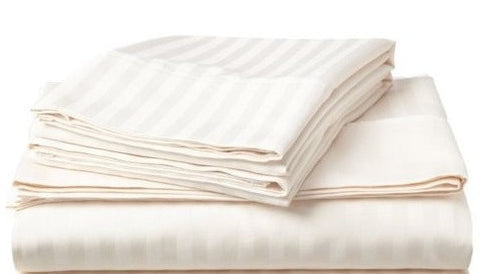 250 Thread Count Egyptian Cotton - Satin Stripe Ivory