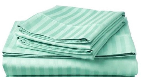 250 Thread Count Egyptian Cotton - Satin Stripe Sea Green