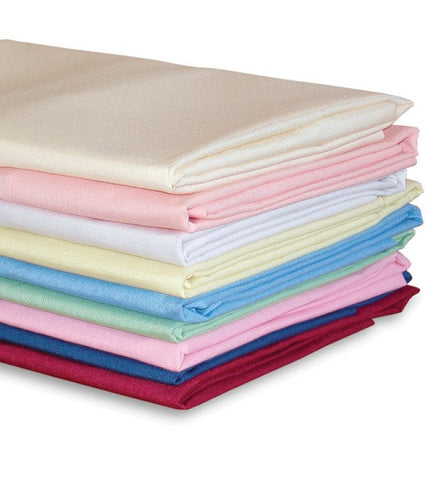 FR Plain Double Fitted Sheet