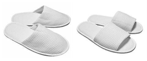 100% Cotton Waffle Slippers
