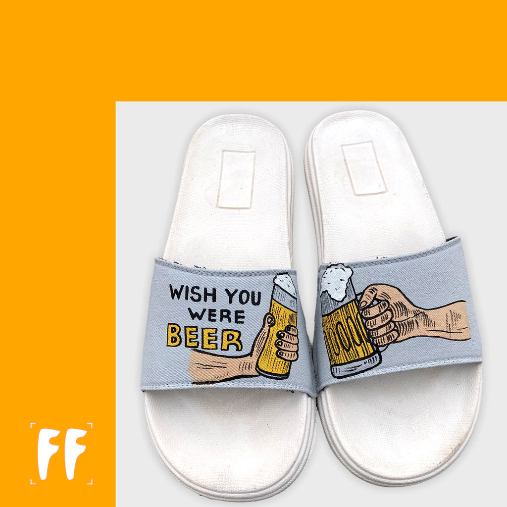 Wish Your Were Beer- Unisex Flip Flops
