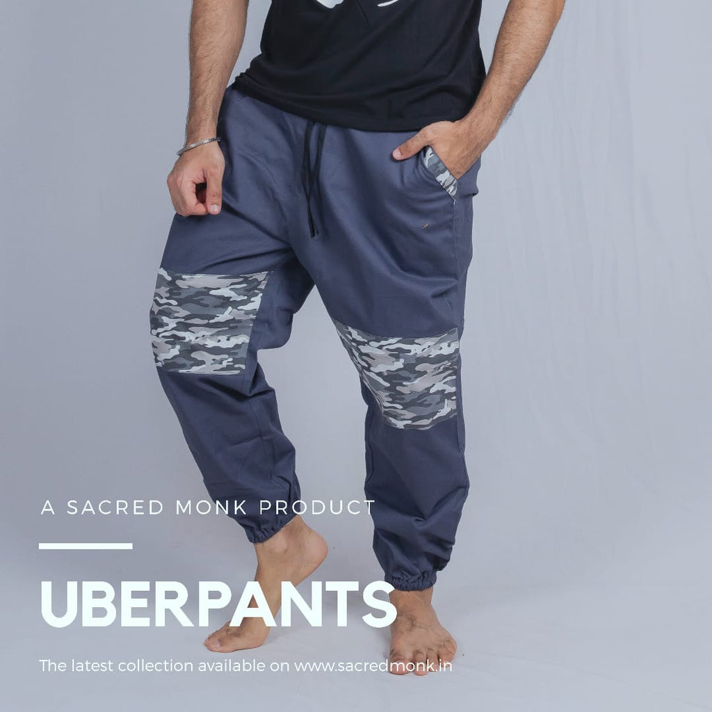 Uber Pants Unisex-Camo Grey (A Sacred Monk Product)