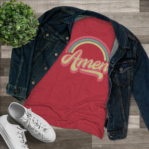 Amen (Tri Color) Women's Triblend Tee