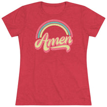 Load image into Gallery viewer, Amen (Tri Color) Women's Triblend Tee