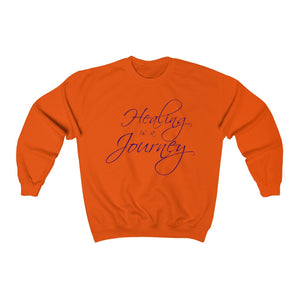 Healing is a Journey (Purple Lettering) Unisex Heavy Blend™ Crewneck Sweatshirt