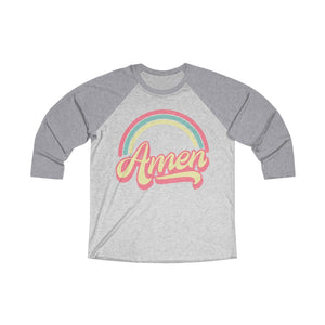 Amen (Tri-Color) Unisex Tri-Blend 3/4 Raglan Tee