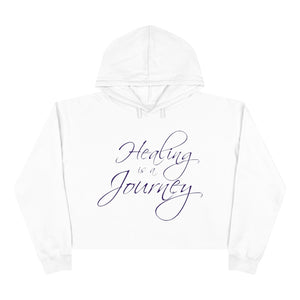 Healing is a Journey (Purple Lettering) Crop Hoodie
