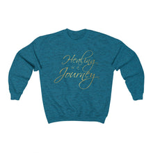 Load image into Gallery viewer, Healing is a Journey (Gold Lettering) Unisex Heavy Blend™ Crewneck Sweatshirt