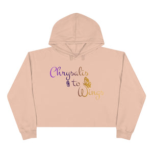 Chrysalis to Wings Crop Hoodie