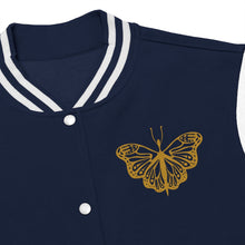 Load image into Gallery viewer, Butterfly (Gold) Women's Varsity Jacket