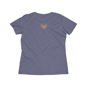 Healing is a Journey (Gold Lettering) Women's Heather Wicking Tee