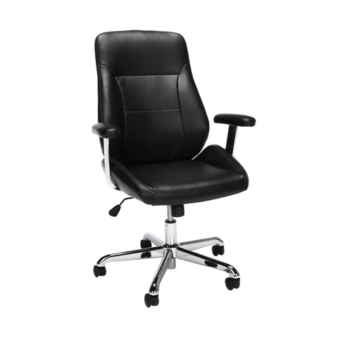OFM Office Chair, Mid Back Leather Task Chair (730-L)