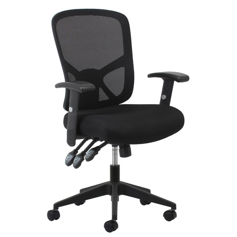 Essentials by OFM ESS-3050 3-Paddle Ergonomic Mesh High-Back Task Chair with Arms and Lumbar Support