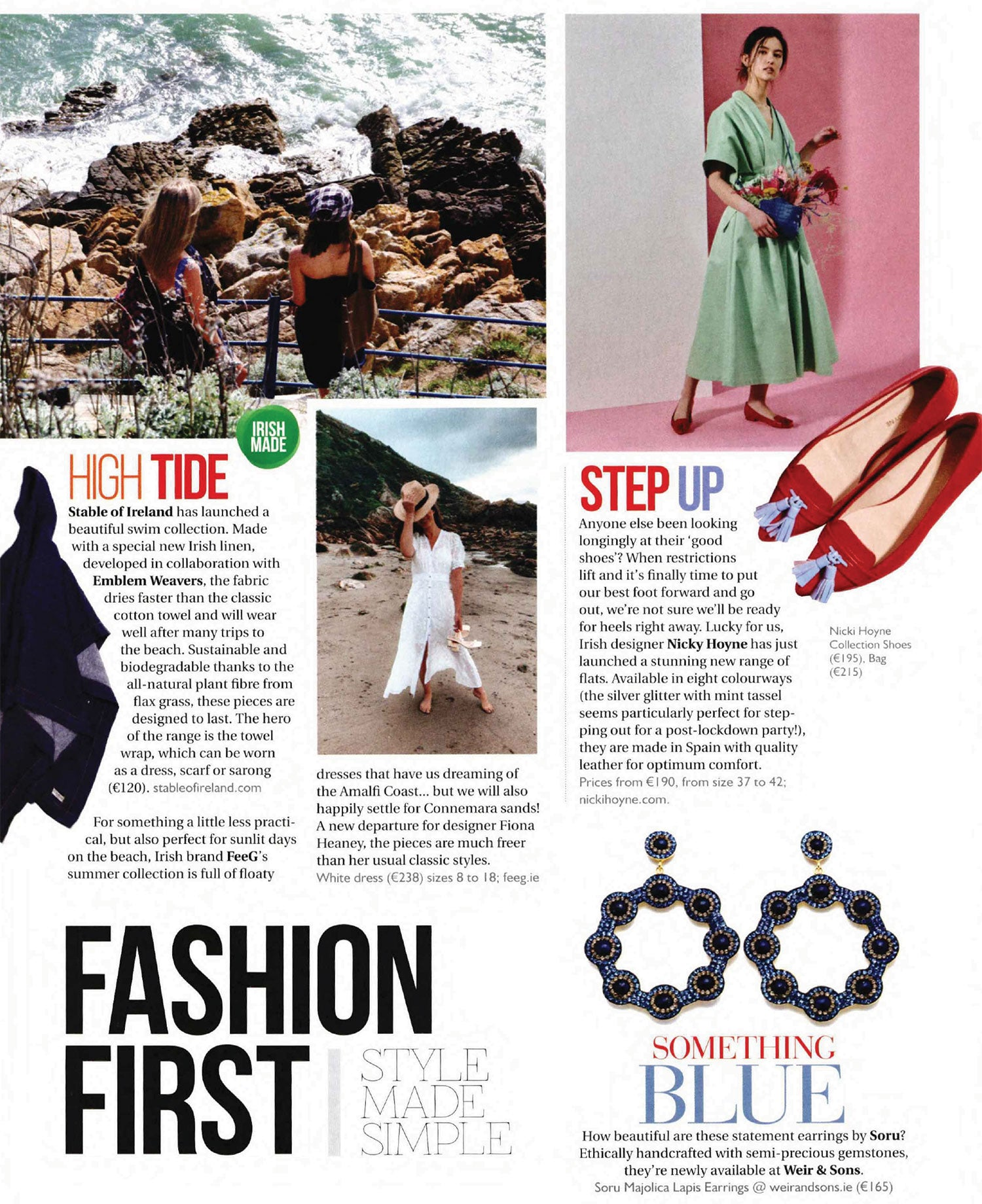 Nicki Hoyne Collection Shoes in Irish Country Magazine May/June 2021