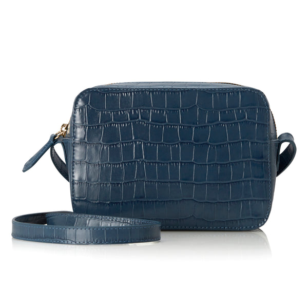 Camera Bag - Powder Blue Croc