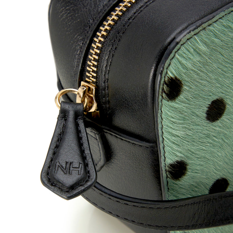 Camera Bag - Mint Polka Dot