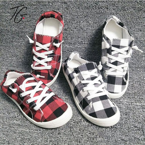 Buffalo Plaid Shoes ❤️ (5800951677080)