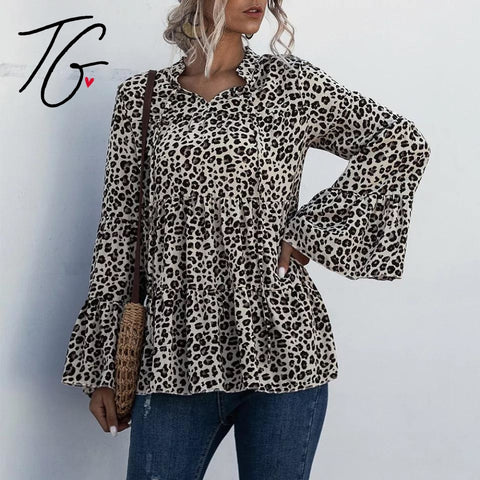 Leopard Long Sleeved Top (5675515379864)