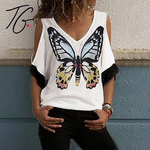 Off Shoulder Lace Butterfly Top (5675525243032)