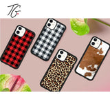 Plaids and Hides Variations Rubber iPhone Case (5800617279640)