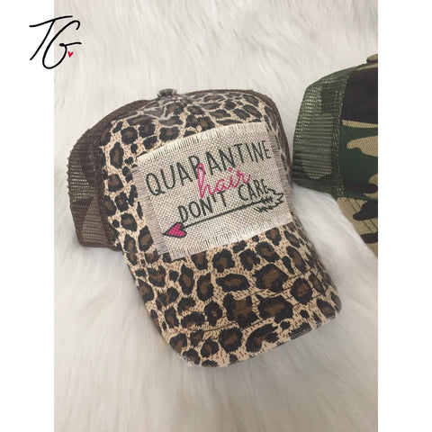 Quarantine Hair Leopard Pony Tail Hat (5791555649688)