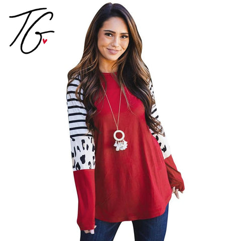 Red & White Striped Sweater Shirt (6104641831064)