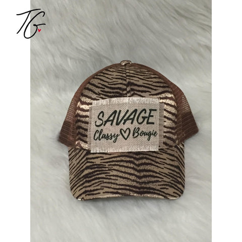 Savage Tiger Pony Tail Hat (5791427887256)