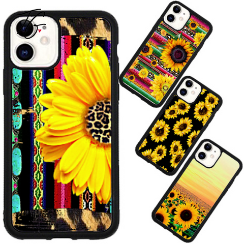 Sunflower Variation Rubber iPhone Case (5800109801624)