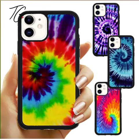 Tie Dye Variations Rubber iPhone Case (5800325185688)