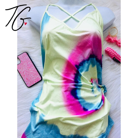 TieDye V neck Top (5675524653208)