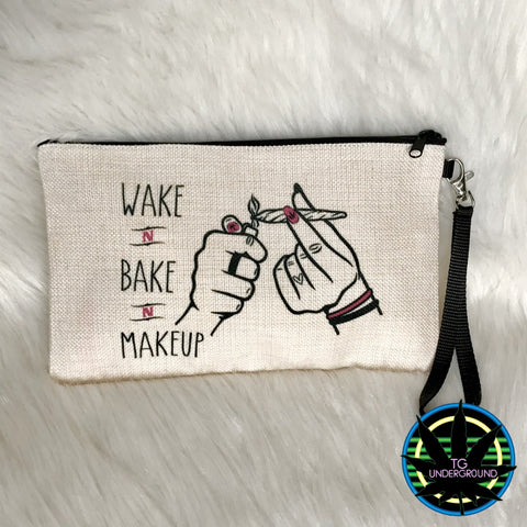 Wake N Bake N Makeup Weed Funny Bag (6240000049304)
