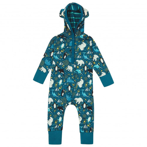 Piccalilly Arctic Hooded Playsuit