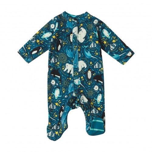 Piccalilly - Arctic Footed Sleepsuit