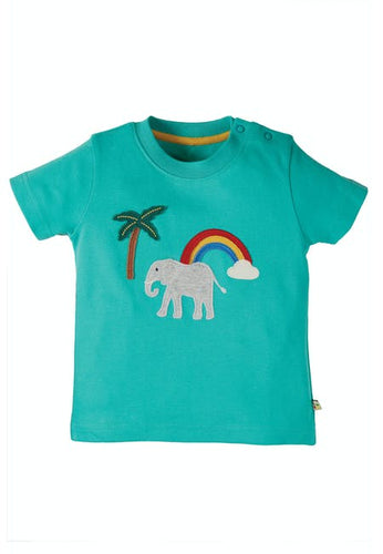 Frugi Adventure Applique Top - Elephant Front